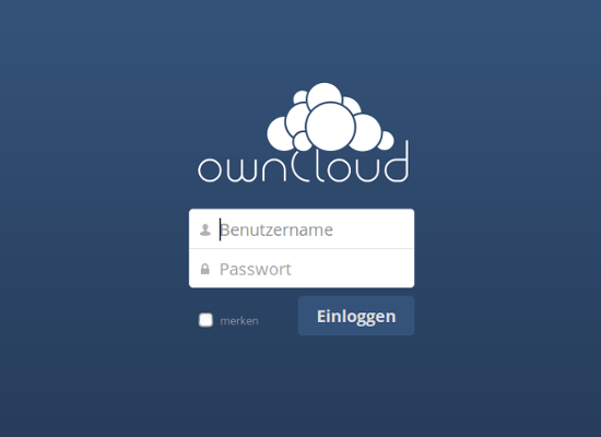 Screenshot ownCloud Login